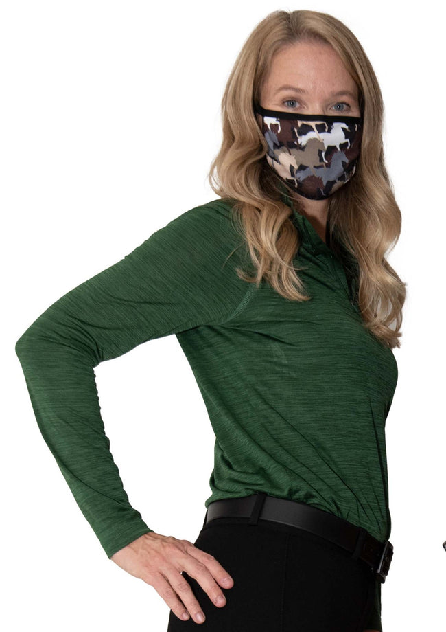 Face Mask | Camo Horses | Machine Washable
