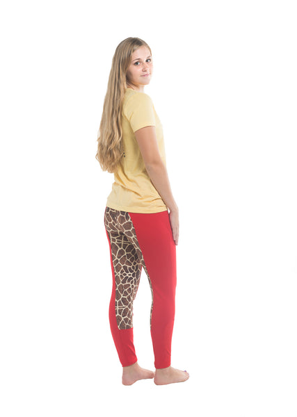 Signature Mid-Waist Breech | Red + Giraffe