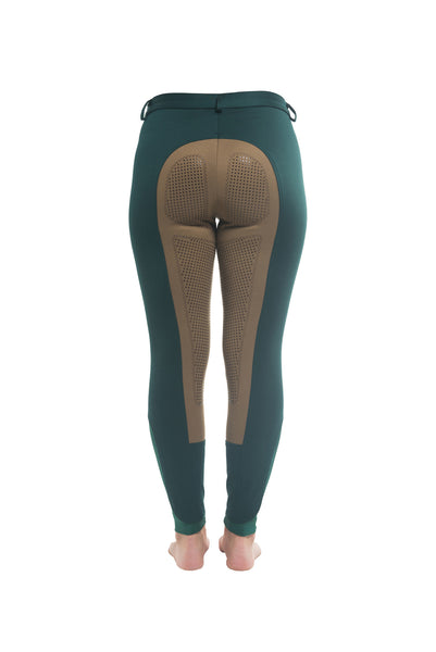Curvy Mare Winter Breech | Green + Tan