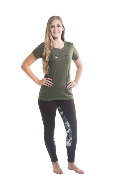 "Signature Mid-Waist Breech | Mocha + Camo ""with Front Side Pocket"""