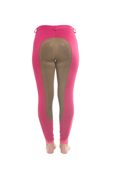 Curvy Mare Winter Breech | Pink + Tan