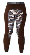 Curvy Mare | High-Waist Breech | Mocha + Camo | Side Phone Pocket
