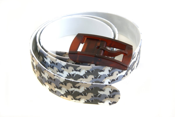 C4 Belt - Camo Horse with Brown Buckle