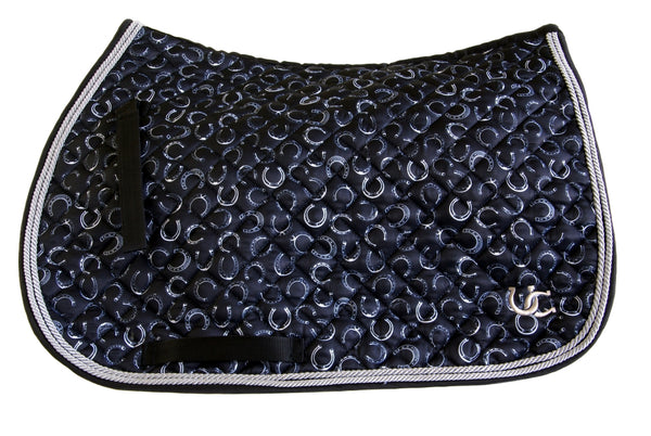 Saddle Pad - Dressage Horse Shoes