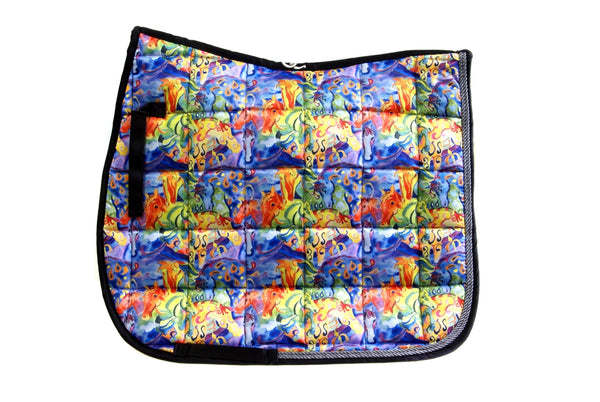 "Saddle Pad - Dressage ""Painted Ponies"""