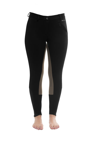 Curvy Mare Winter Breech | Black + Tan