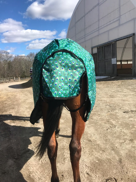"""Peacock"" Medium Weight Turnout Blanket"