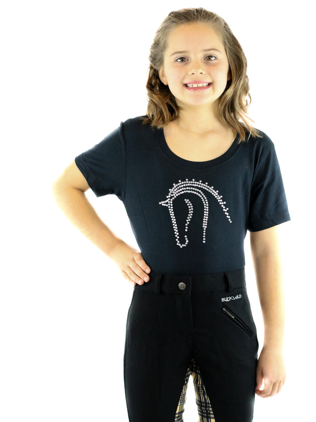Kid's Signature Mid-Waist Breech | Black + Plaid