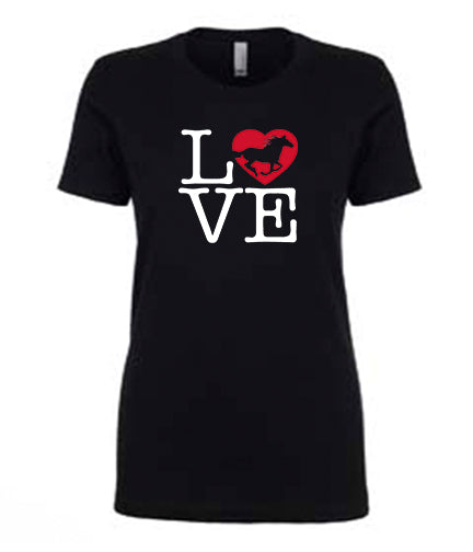 Favorite Tee | V-Neck | LOVE (Black)