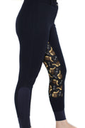 Signature Mid-Waist Breech | Navy + Saddles