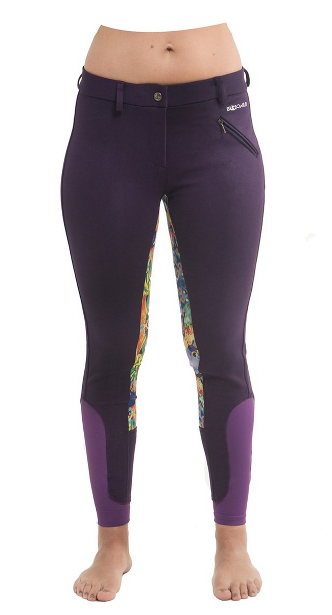 Signature Mid-Waist Breech | Purple + Painted Ponies