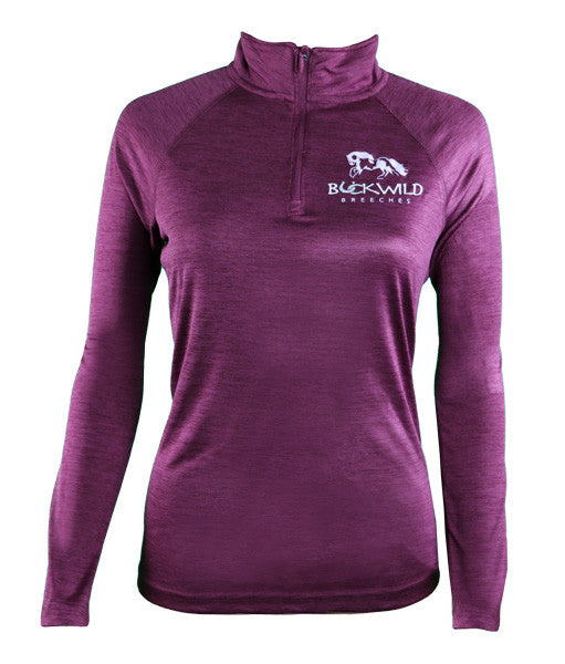 Buckwild Performance Pull Over with Quarter Zip in Purple