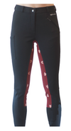 Curvy Mare | High-Waist Breech | Black + Fox | Side Phone Pocket