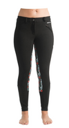 Signature Mid-Waist Breech | Black + Skulls and Roses