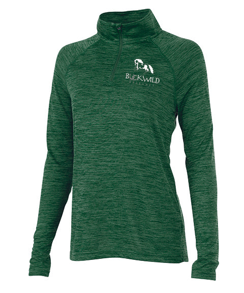Performance Pull Over | Quarter Zip | 100% Polyester | Green