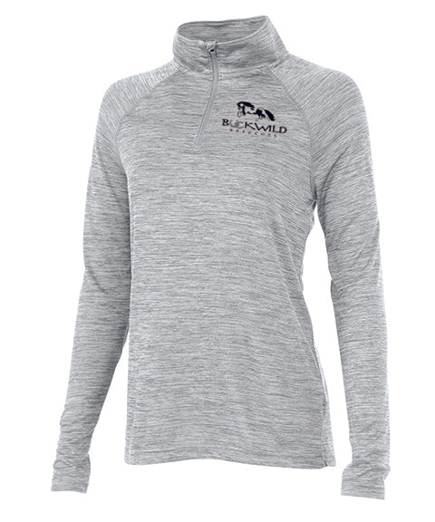 Performance Pull Over | Quarter Zip | 100% Polyester | Gray