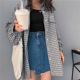 Ladies Casual Style Check Shirt