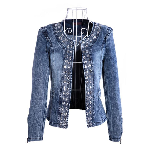 Ladies Vintage Style Denim Jacket