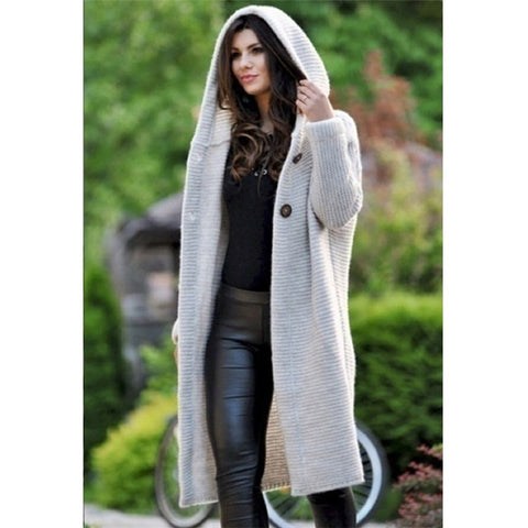 Womens Casual Loose Style Coat Cardigan