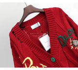 Trendy Embroidered Chunky Cardigan