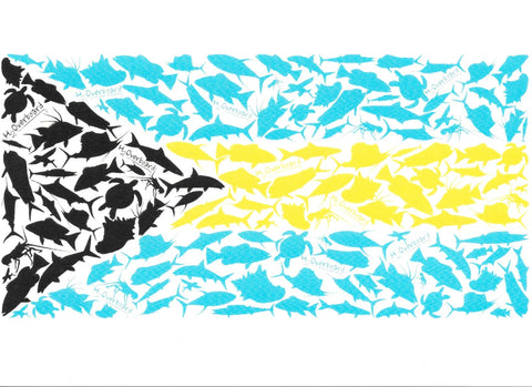 Greeting Card - Bahamian Flag