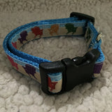 "Dog Collar - 3/4"" webbing - Small / Beach Chairs on Ice Blue - Dog - H2Overboard - 9"