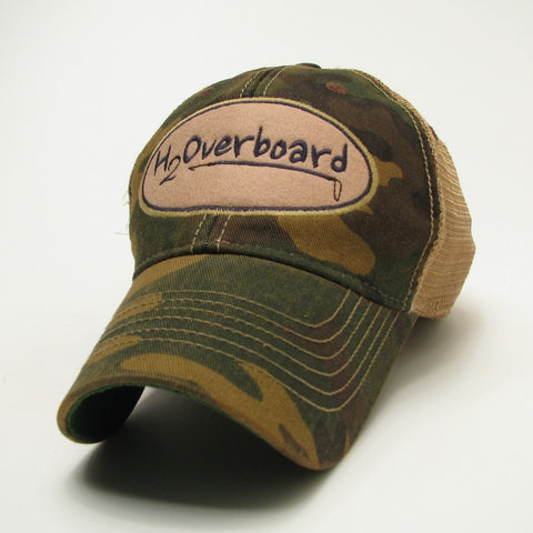 H2Overboard Trucker Hat - Camo w/ beige mesh - Hats and Visors - H2Overboard - 4