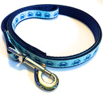 Leash - 3/4 inch webbing - Crabs on Navy / 4 ft - Dog - H2Overboard - 1