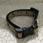 "Dog Collar - 3/4"" webbing - Small / Ducks on Black - Dog - H2Overboard - 12"