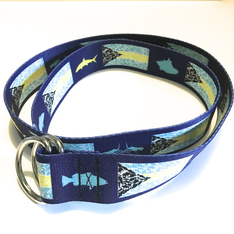 Bahamian Flag D-Ring Belt