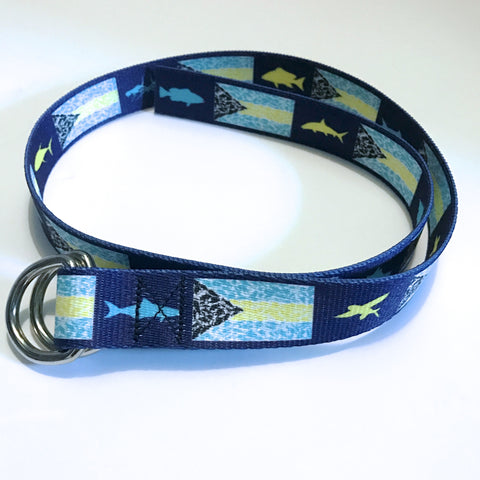 Bahamian Flag Youth D-Ring Belt