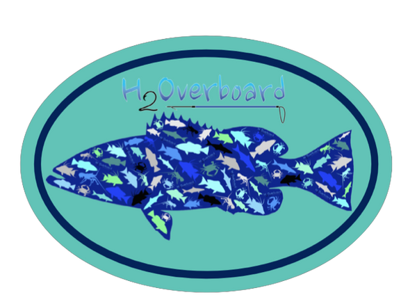 Grouper Camo Oval Sticker