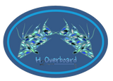 Hogfish Camo Oval Sticker