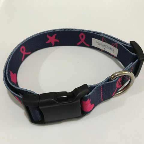 Pink Ribbon Collar