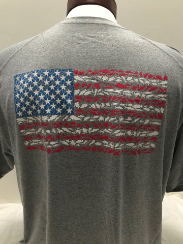 American Flag Short Sleeve Sport Shirt