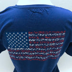 American Flag Ladies Short Sleeve Shirt