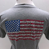 American Flag Ladies Short Sleeve V-Neck Shirt