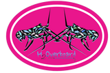 Lobster Camo Oval Sticker - Black Lobster - Hot Pink/White - Stickers - H2Overboard - 3