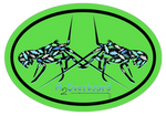 Lobster Camo Oval Sticker - Black Lobster - Lime Green/Black - Stickers - H2Overboard - 2