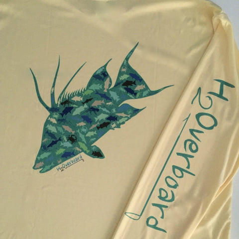 Hogfish Fish Camo Performance Shirt - Fighting Lady Yellow / Small - Performance Shirt - H2Overboard - 1