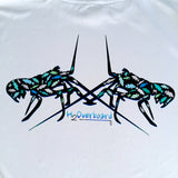 Lobster Fish Camo Youth Performance Shirt - Silver w/ Black / Small - Performance Shirt - H2Overboard - 1