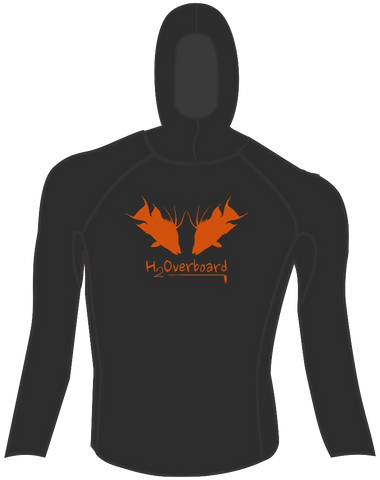 Hogging the Reef Hooded Rash Guard