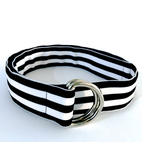 Navy Cabana Ribbon Belt