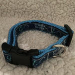 "Dog Collar - 3/4"" webbing - Small / I Refuse to Sink - Blue on Ice Blue - Dog - H2Overboard - 13"