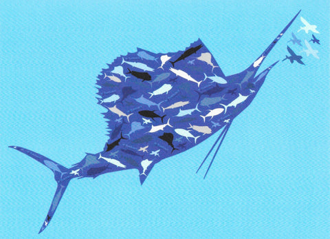 Greeting Card - Blue Sailfish