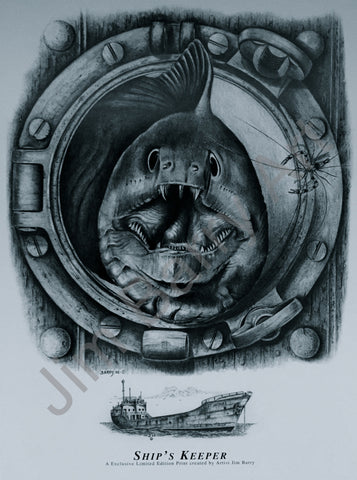 "Ship's Keeper - Small (12"" x 16"") - Lithograph - Jim Barry Art - 2"
