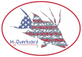 American Hogfish Oval Sticker