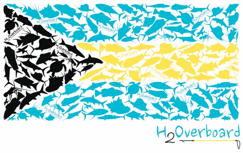 Bahamian Flag Sticker