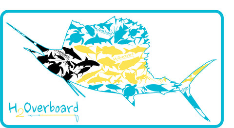 Bahamian Sailfish Sticker