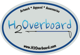 H2Overboard Oval Sticker - Gray/Blue - Stickers - H2Overboard - 3
